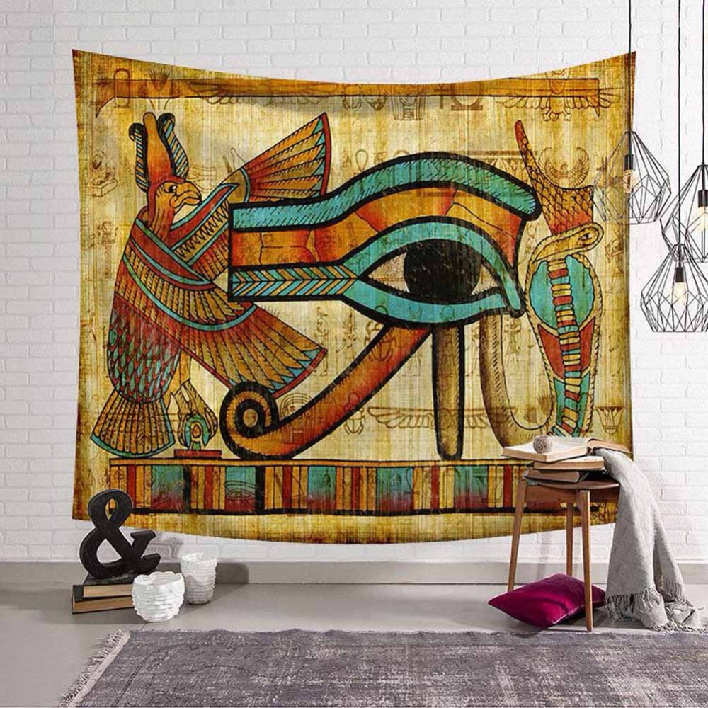 Ancient Egypt Mandala Tapestry Gold Cleopatra Wall Hanging Art Tapestries Home Decorative Throw Sheet Coverlet Beach Yoga Mat