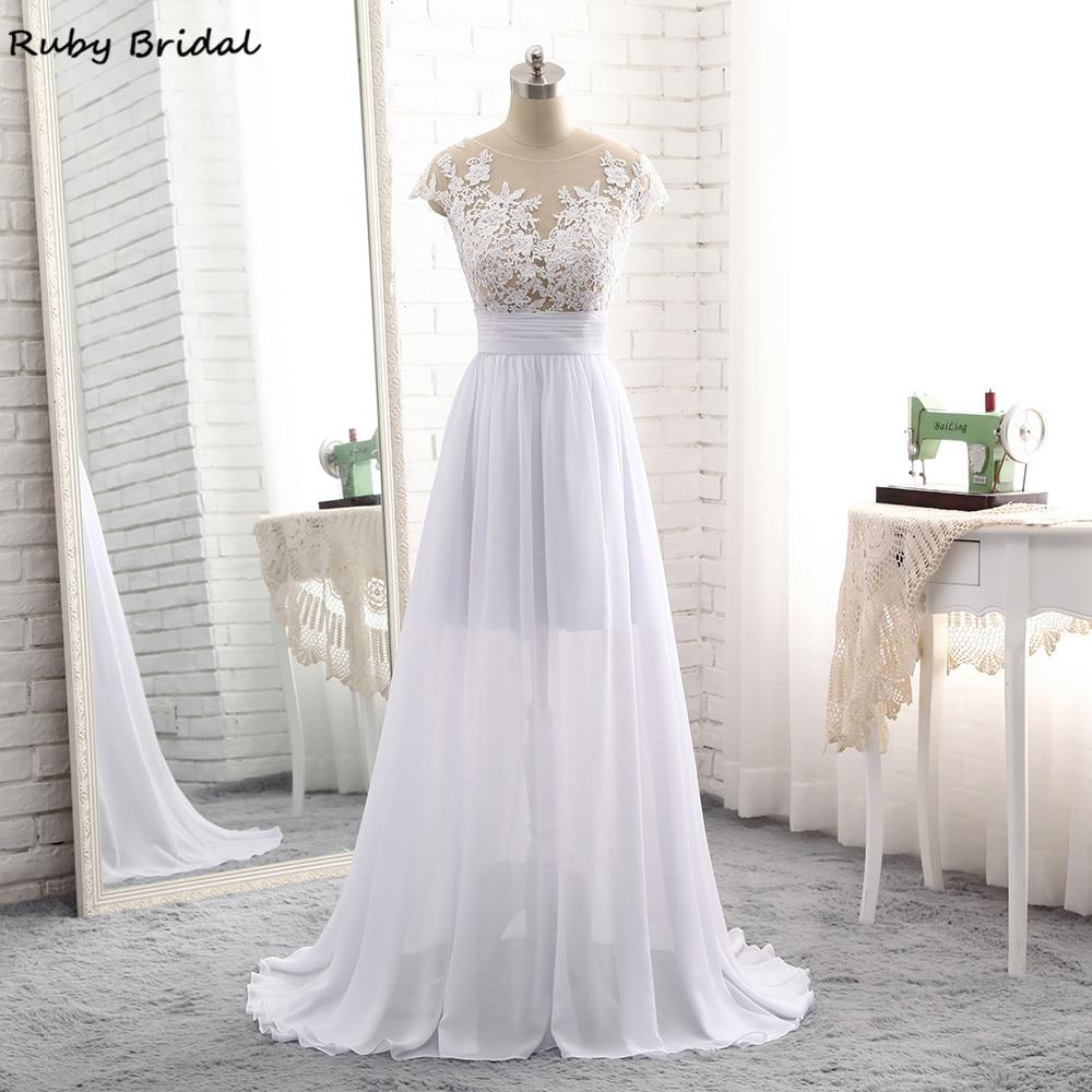Cheap Elegant Wedding Dresses: Ruby Bridal 2017 Elegant Vestido De Noiva Long A Line