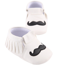 Baby Moccasins Mustache Shoes First Walkers
