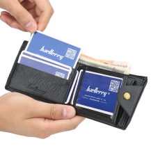 High Quality PU Leather Men Small Wallets Card Holder Thin W