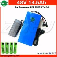 Batería 48 v 14.5ah 1000 w para panasonic celular batería de litio de 48 v con 2A Cargador incorporado 30A BMS Batería del ebike de 48 v Envío Gratis