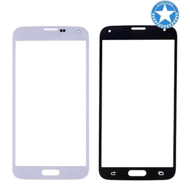 Putih Baru Depan Outer Kaca Lensa Layar Pengganti untuk Samsung Galaxy S5 SV G900 G900A G900P G900R4 G900T G900V