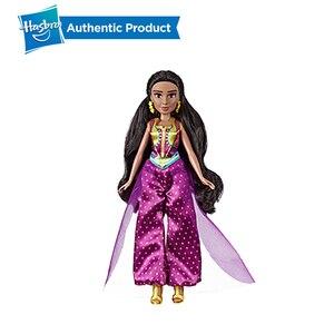 Image 4 - Hasbro Disney Aladdin Glamorous Gelsomino Deluxe Fashion Doll Jasmine Bambola Aladdin Regalo di Film Per I Bambini 3 Anni di Età