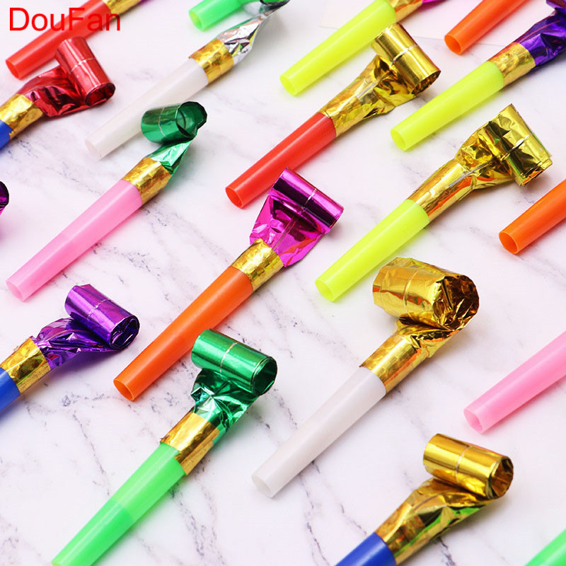 DouFan 6pcs Noise Maker Birthday Party Horn New Year