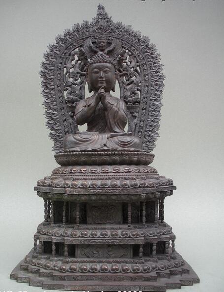 "Estatua del rey Sakyamuni de la bestia del Pabellón de bronce del budismo del Tíbet de 19"""