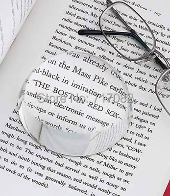 60mm dome paperweight ,magnifying glass paperweight,clear paperweight glass as desk decoration for free shipping by DHlL,UPS