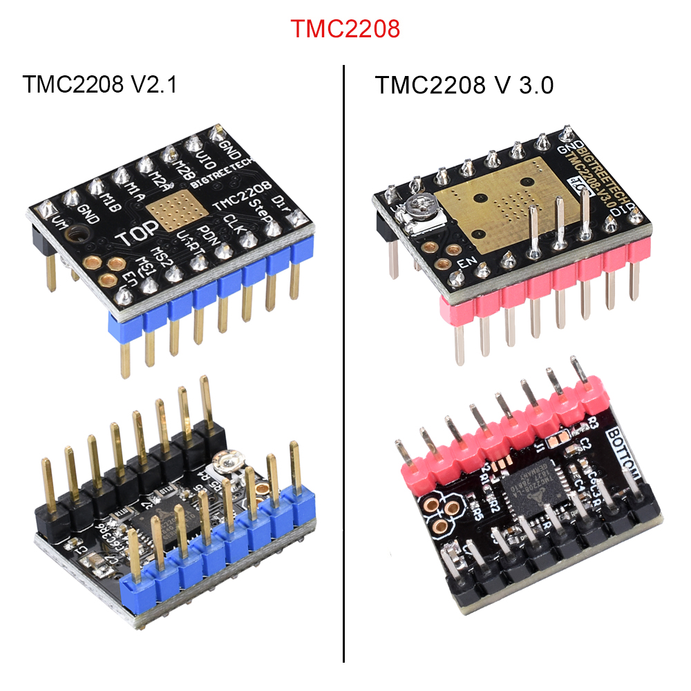 BIQU BIGTREETECH TMC2208 TMC2100 TMC2130 V1 1 SPI MKS Stepper Motor  StepStick Mute Driver for 3d printer control board SKR V1 3