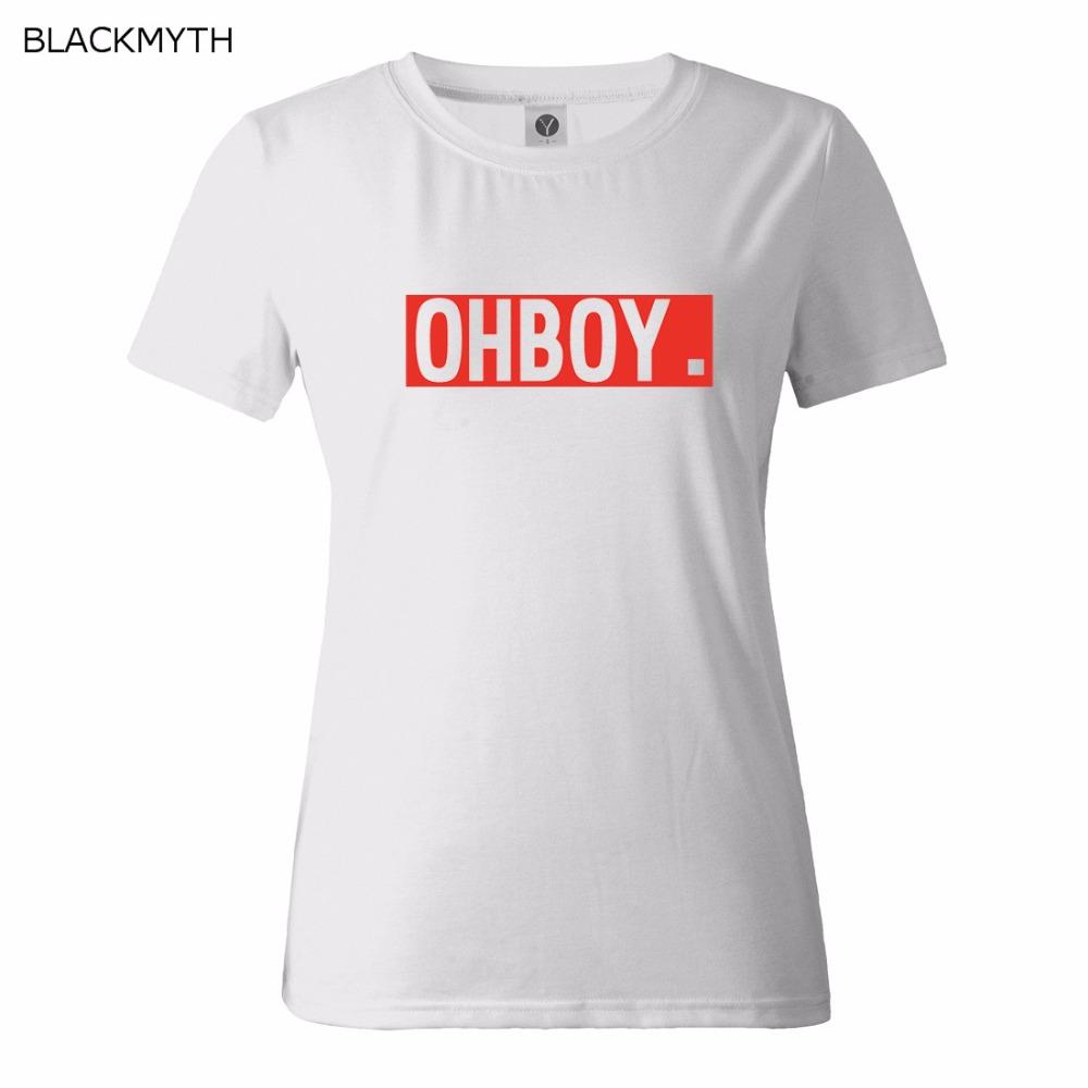 HTB1FmoDQFXXXXc XFXXq6xXFXXXD - OHBOY Printing T-shirt Tops Summer Woman Clothing