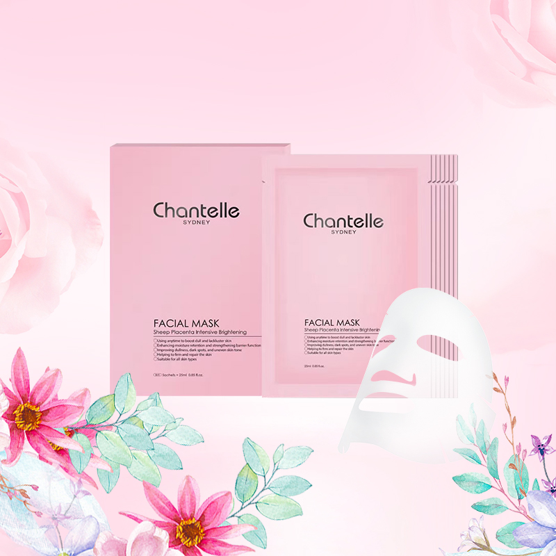 Australia Chantelle Sheep Placenta Facial Mask Brighten Smoothe Firm Skin Anti wrinkle Face Mask Natural Skin Care TREATMENT
