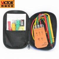 1pcs VICTOR VC850 3 Phase Sequence Rotação Indicador Tester Checker Medidor de 200 ~ 480V LED + Buzzer