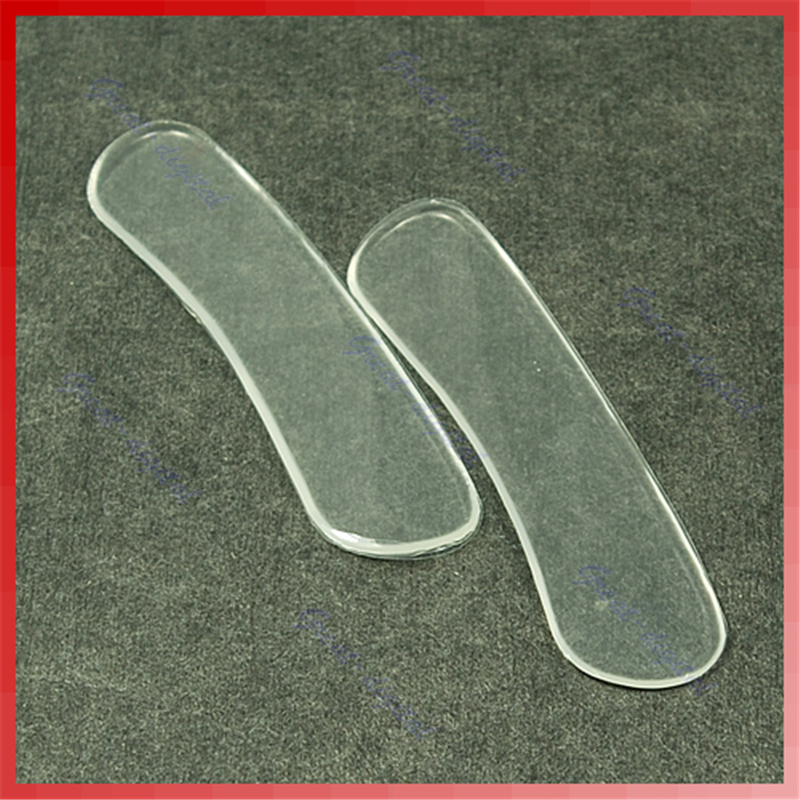 New Fashion 1 Piar Women Foot Care Silicone Gel High Heel Cushion Shoe Insert Pad Insole Heel Liner Transparent Fits All Shoes 2 pcs foot care insoles invisible cushion silicone gel heel liner shoe pads heel pad foot massage womens orthopedic shoes z03101
