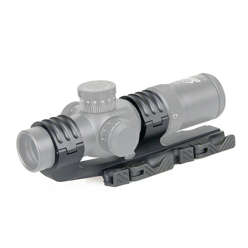 Tactical Double Ring Rifle Scopes Mount 30mm 35mm QD Mount fits 21mm rail for hunting ht219