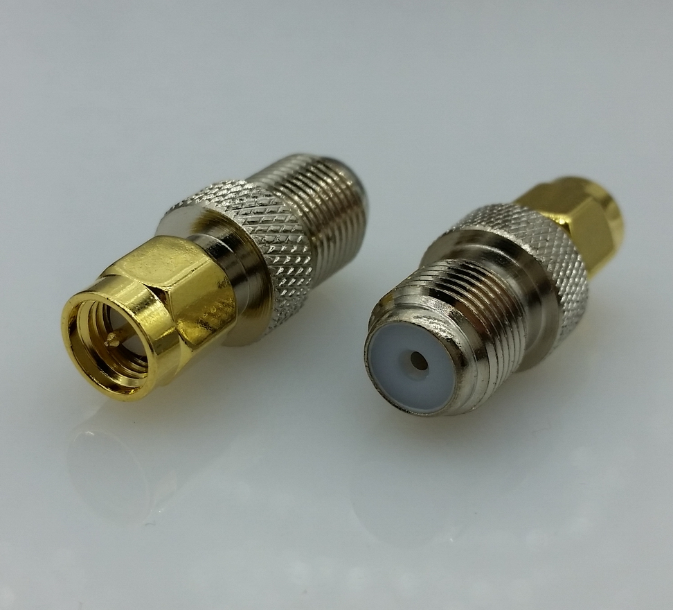 F Type Female Jack to SMA Male Plug Straight RF Coax Adapter F connector to sma Convertor 1pcs 1pc adapter n plug male nickel plating to sma female gold plating jack rf connector straight