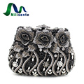 Women Christmas Flower Crystal Evening Bags Wedding Handbags Party Purse Lady Clutches Black Blue Multi Color Eveningbags