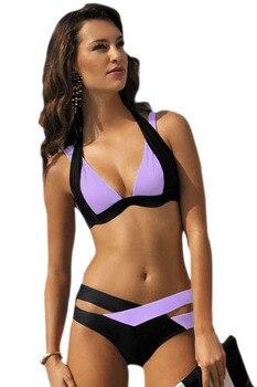 VINIKNIKA 2017 new split color female swimsuit cross sexy bikini ladies swimwear Top Beach wear Bathing Suits maillot de bain 1