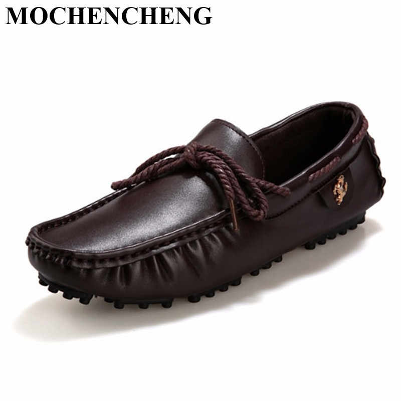3c40af03d57 New Men Casual Shoes Loafers British Moccasin-gommino Comfortable Slip-on  Flat Leisure Shoes