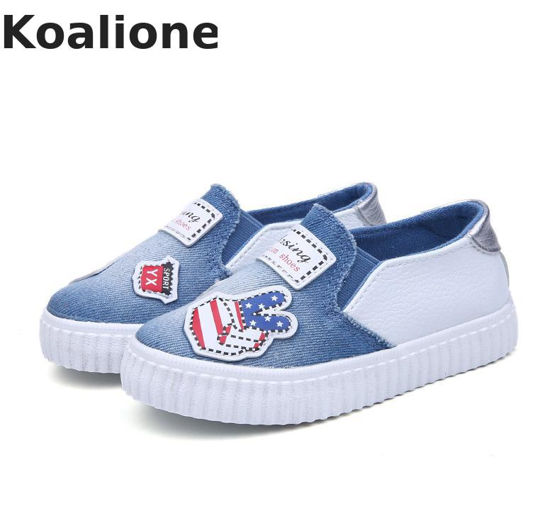Children/'s Print Sports Shoes Boys Girls Canvas Shoes Kids Casual Sneakers