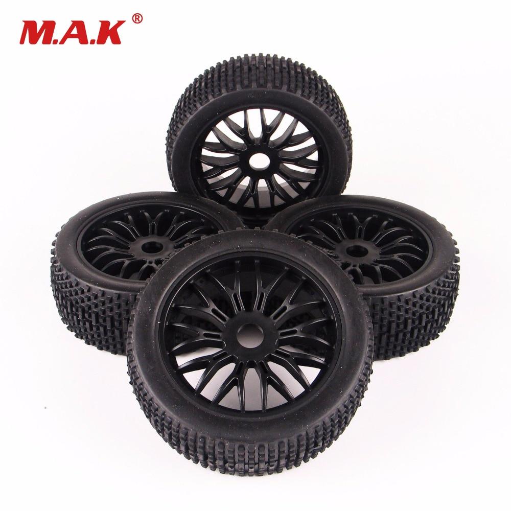 4pcs/set 1/8 On-Road Tires RC wheels for toys Tyre & Wheel Rim Fit HSP HPI Traxxas 1:8 Car Toys wheel 4pcs rubber rc racing tires car on road wheel rim fit for hsp hpi 1 10 high quality rc car part diameter 68mm tires