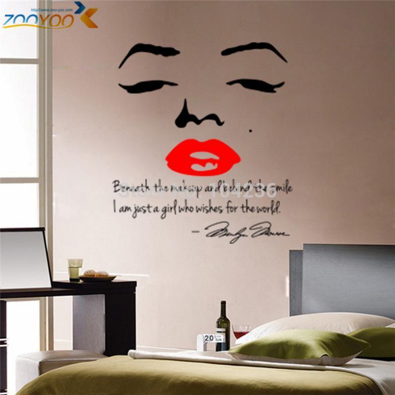 Aliexpress Com Hot Ing Marilyn Monroe Quotes Wall Stickers Zooyoo8002 Bedroom Vinyl Decals Living