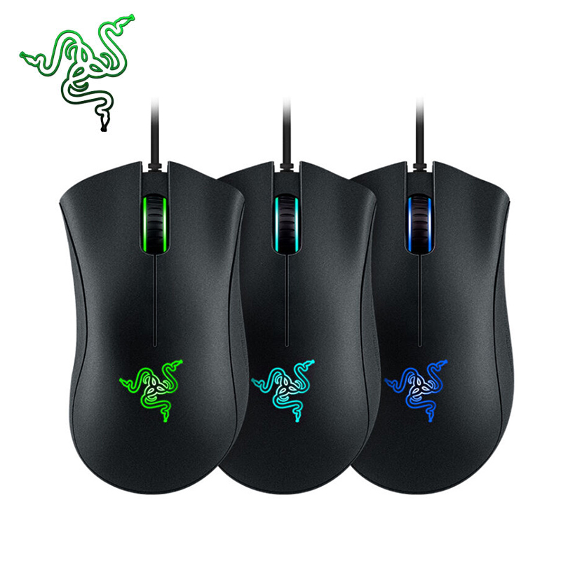 Razer Deathadder 3500dpi Gaming Wired Mouse Laser Pro Gamer High Quality USB Wired Game Mouse 5 Buttons Official Genuine dare u wcg armor soldier 6400dpi 7 programmable buttons metab usb wired mechanical gaming mouse