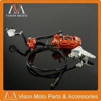 Спереди Тормозные системы тормозной рычаг главный Цилиндр Шланг Большой суппорт адаптер для KTM EXC SX SXF XCF xcw xcwf XC 125 530 10 15 эндуро