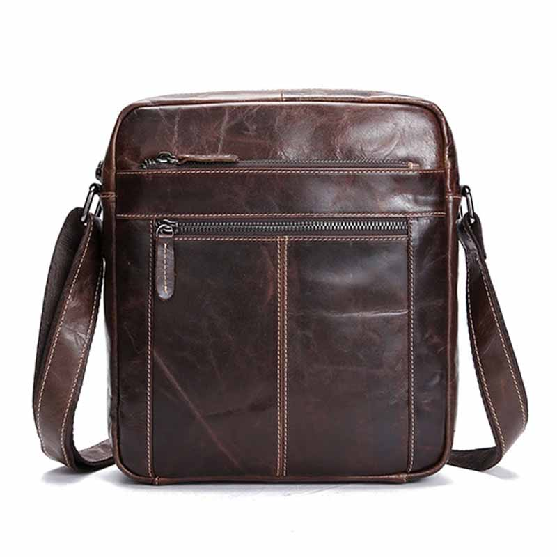 Neweekend New Genuine Leather Men Bag Business Leather Mens Messenger Bag Vintage MenS Crossbody Bag Small Flap Casual BF5003