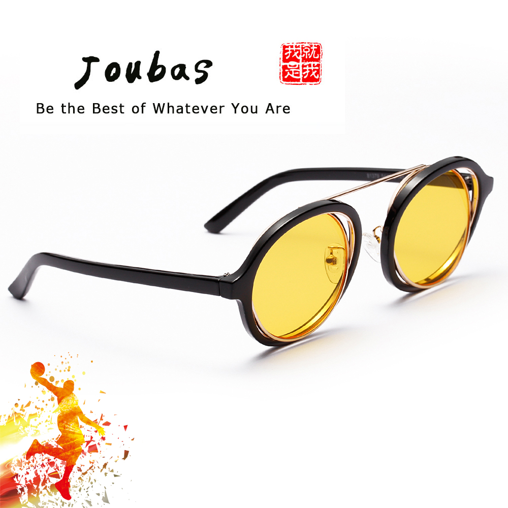 cb85412d18e Joubas Steampunk Men Women Sunglasses 2018 Cool Round Double Frame Sun  glasses UV Unique Interlaced Mental goggles Festival 31 -in Sunglasses from  Apparel ...