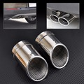 2X STAINLESS STEEL EXHAUST TAIL REAR MUFFLER TIP PIPE TAILPIPE For VW Passat B6 2006 2007 2008 2009 2010 Passat CC Free Shipping