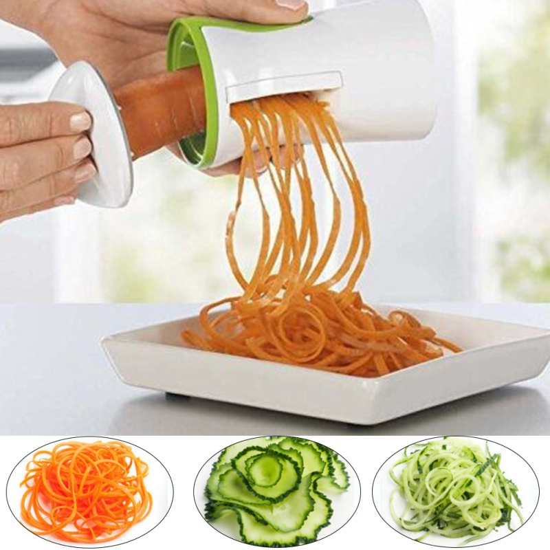 Vegetable Handheld Spiral Graters Cutter Carrot Spaghetti Pasta Cooking Tool Kitchen Tools