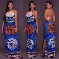 2017 New Women Spring Beach Bohemian Maxi Dress Sexy Spaghetti Strap High Quality Striped Print Long