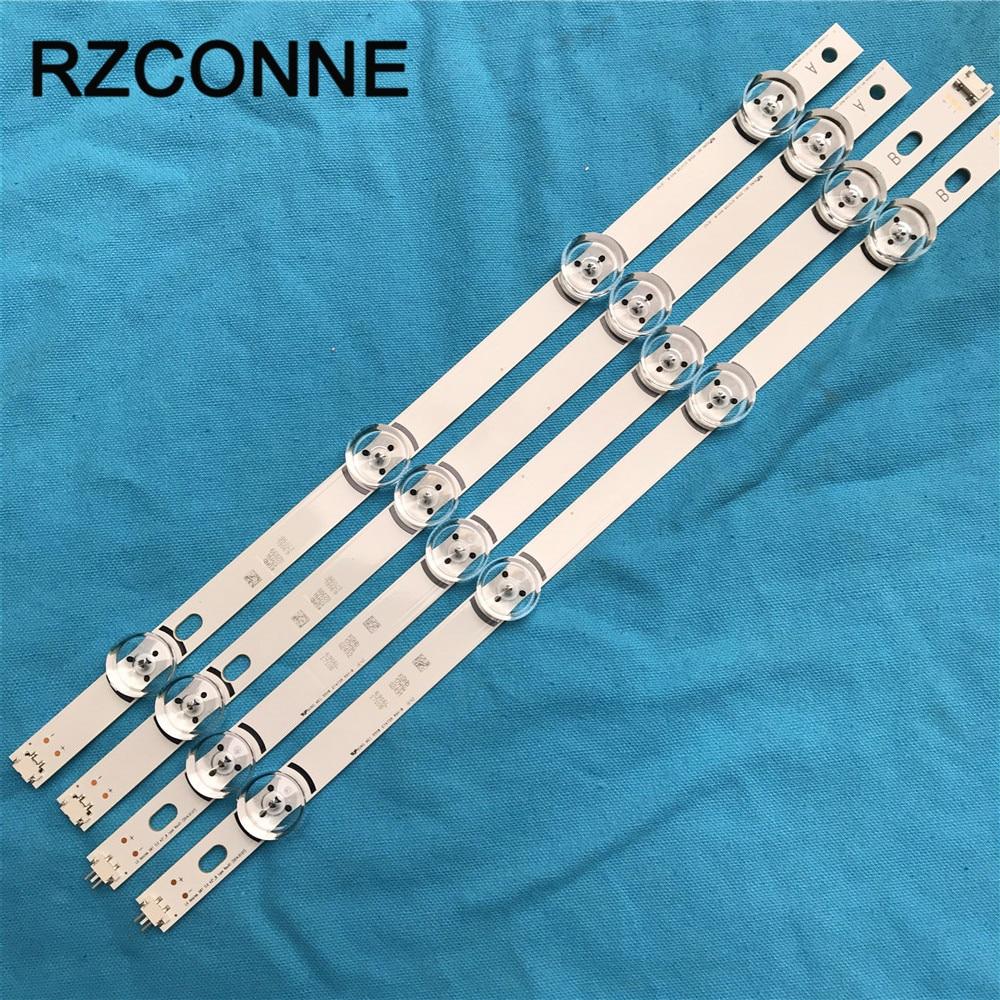 4pcs LED Strip For LG INNOTEK DRT 3.0 42'' A/B TYPE 6916L 1709B 1710B 1957E 6916L-1956A 42LF6200 42LB5300 42LB582V 42LY540H
