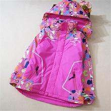 Корейские дети осень 2016 большие дети новая Куртка С Капюшоном утолщенной детей спорт ватник (125-155 см)