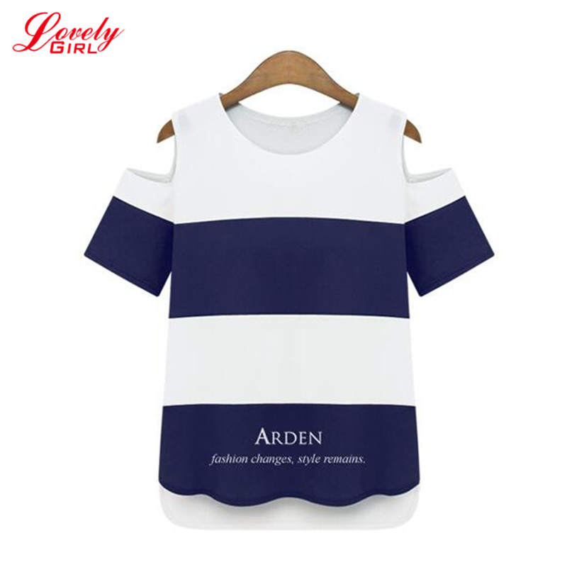 Tshirt Femme 2016 Summer New Arrivals Striped T-shis