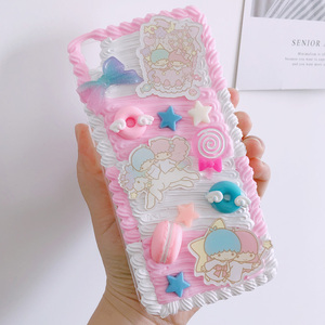 Image 2 - For huawei P30 pro/P20 plus /nova3e Gemini DIY case, 3D melody cover for samsung s10 plus handmade cream candy case gift