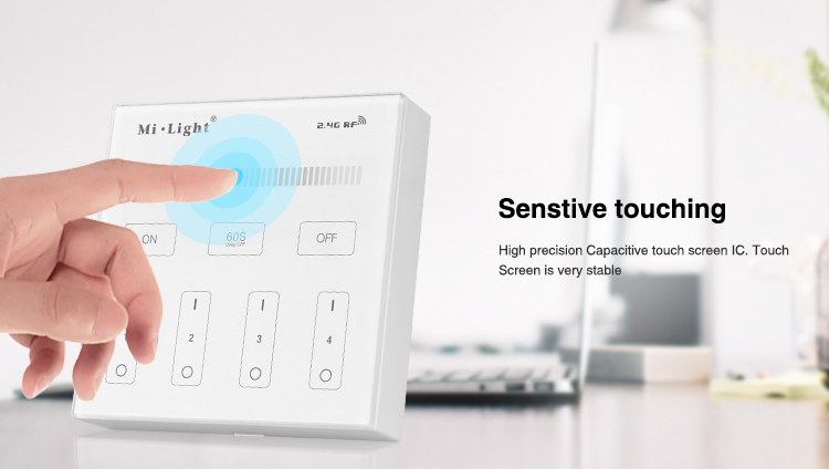 Mi Light B1 4-Zone Brightness Dimmer Smart Touch Panel Remote - Լուսավորության պարագաներ - Լուսանկար 4