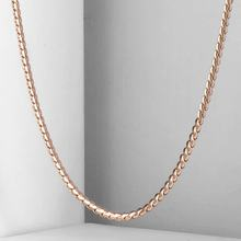 2mm Thin Women Girl 585 Rose Gold Color Serpentine Link Herringbone Chain Necklace Elegant Jewelry 20-24inch CN16(China)