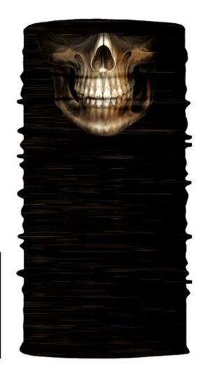 3D Череп Скелет бесшовная Бандана Балаклава головная повязка мотоциклетный головной убор Байкер волшебный платок труба Шея рыболовная вуаль маска для лица - Цвет: TA09