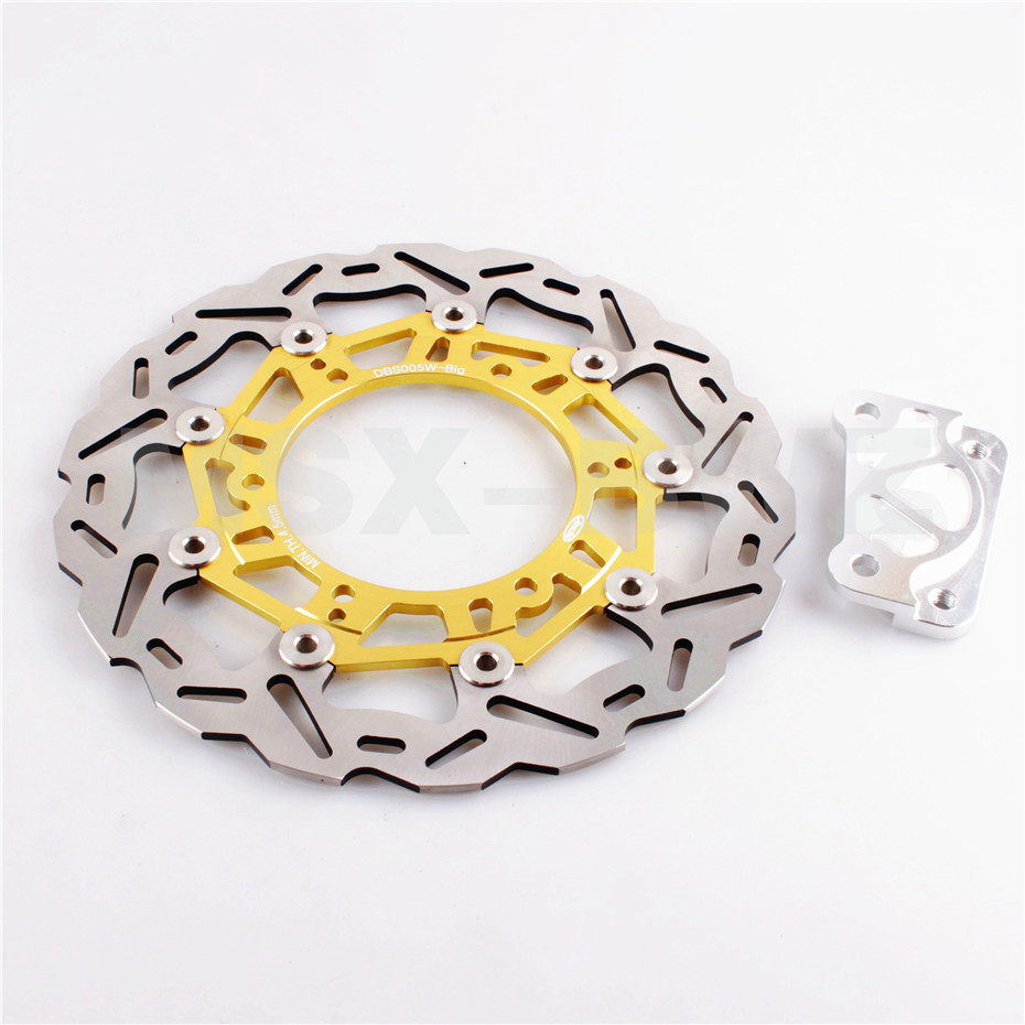 For Yamaha YP MAJESTY 96-97 DX250 98-99 DX ABS 250 99-05 Front Brake Disc Rotor 1996 1997 1998 1999 2000 Stainless  Gold