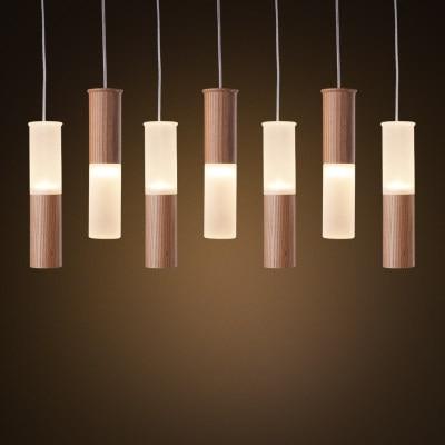 Online Shop Wooden Lamp Pendant Wood Tree Hanging Tube Light ...