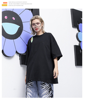 Women Tops Shoulder Hollow Out Short Sleeve T Shirt Female Streetwear Hip Hop Oversized Cotton Tshirt Loose Casual Tees Shirts