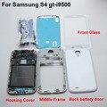 Полный корпус и переднее стекло экрана для ремонта и замены по частям для Samsung Galaxy S4 SIV GT-i9500 белый
