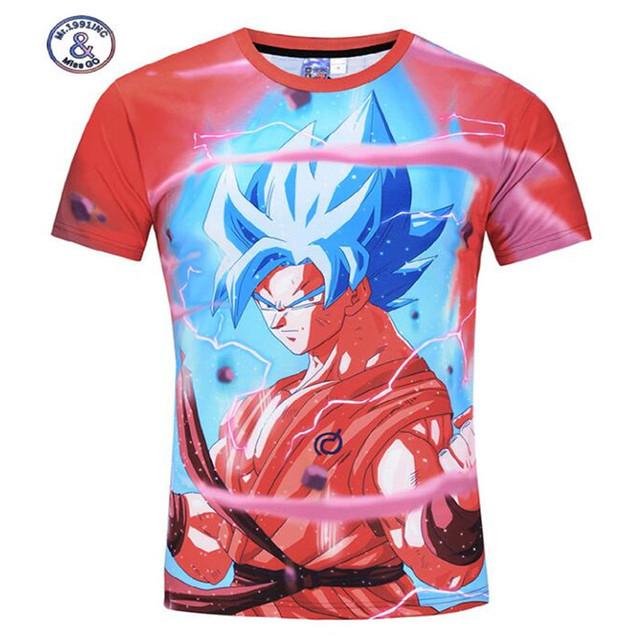 Dragon Ball Z 3D Print short sleeve Casual Men's T-shirt
