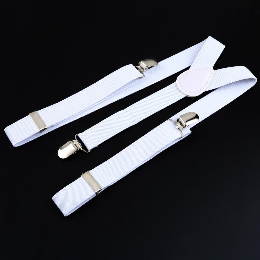 Hot Men's Adjustable Suspenders For Shirts Pants Jeans Clip-on Braces Elastic Y-Back Suspend Slim Men Women Unisex Suspenders