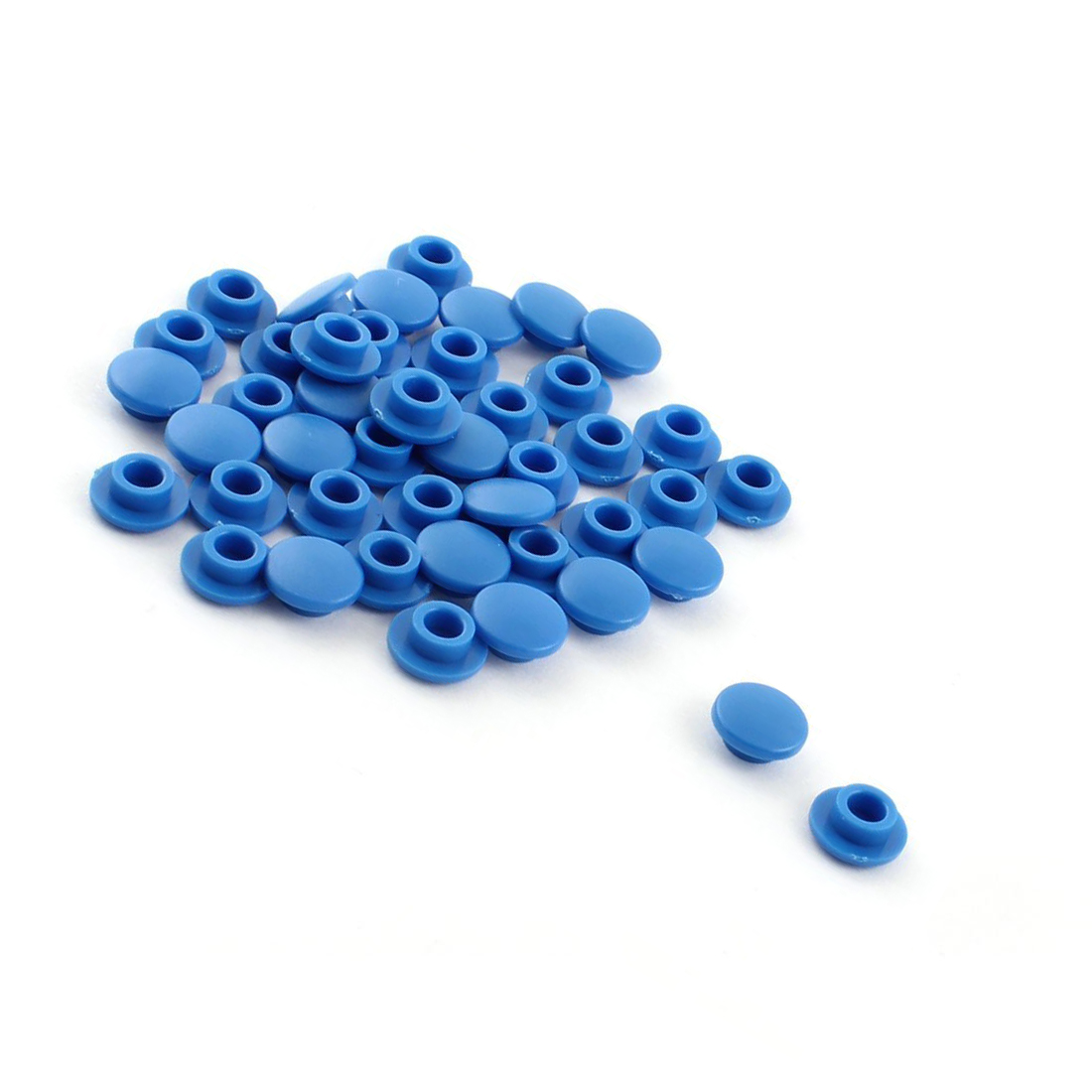 Jfbl Hot 45pcs Round Blue Mini Pushbutton Caps Covers For