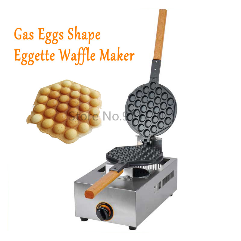 FREE SHIPPING Gas Waffle  Machine HongKong Egg maker Stove with Non-stick  Iron free shipping manual spanish capacity 3l churro maker machine with 6l gas fryer