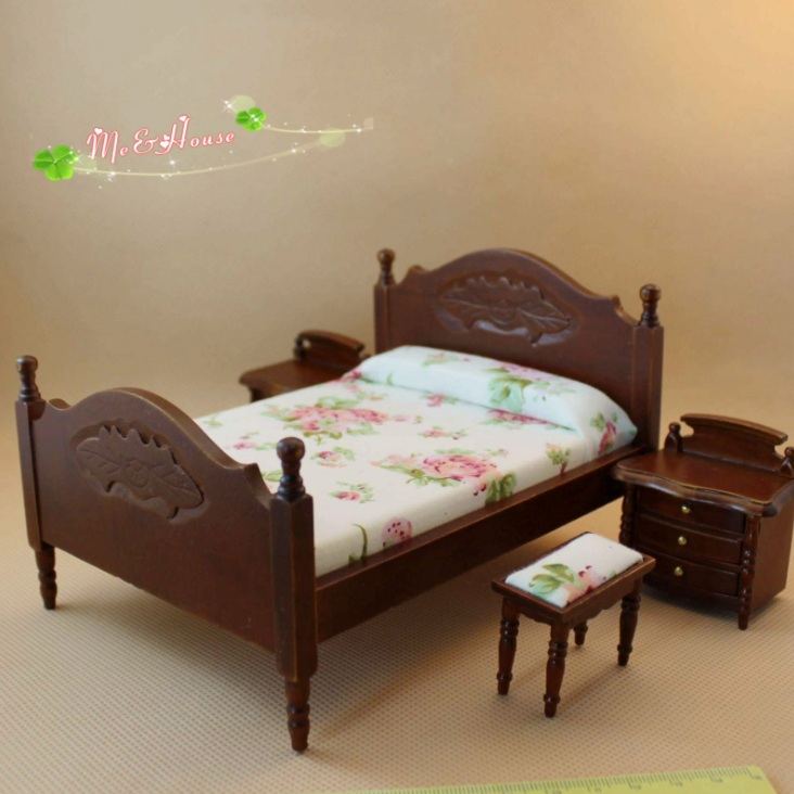Mini doll house accessories mini model high-end quality bedroom bedding home toys
