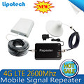 Kit completo FDD-LTE 2600 MHz Repetidor Celular Amplificador de sinal de Telefone Celular 4G Impulsionador 65dB Amplificador com antena interior e exterior