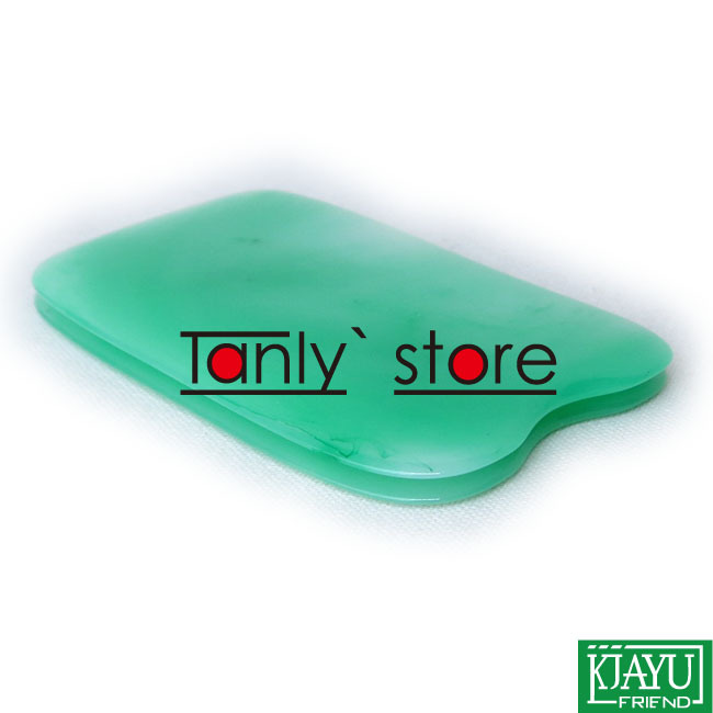 100pieces lot Wholesale retail Traditional Acupuncture Massage Tools green square resin Guasha kits in Massage Relaxation from Beauty Health