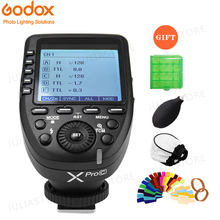 Трансмиттер триггер Godox XPro C с беспроводной системой X HSS, 2,4 ГГц, с ЖК экраном, для цифровой зеркальной камеры Canon