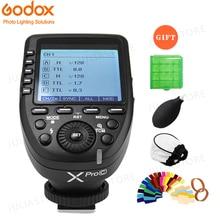 Godox Xpro c Flaş Tetik Verici ile E TTL II 2.4G Kablosuz X Sistemi HSS LCD Ekran Canon DSLR Kamera